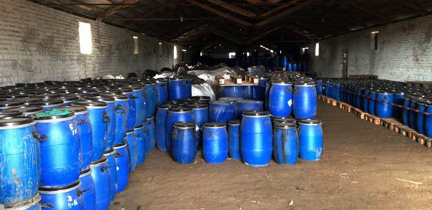 Temporary storage of obsolete pesticides in the Slonim district, Grodno region